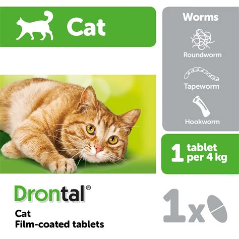 Bayer Drontal 1 Tablet bayer drontal cat worming tablet pet supermarket co uk