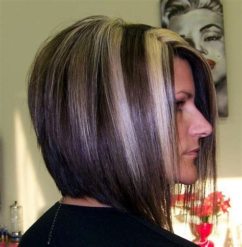 chuncky bob hair cuts stacked bob haircut back view stacked bob haircut w