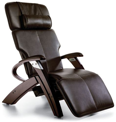 massage armchair recliner espresso electric power recline 551 vinyl zero gravity