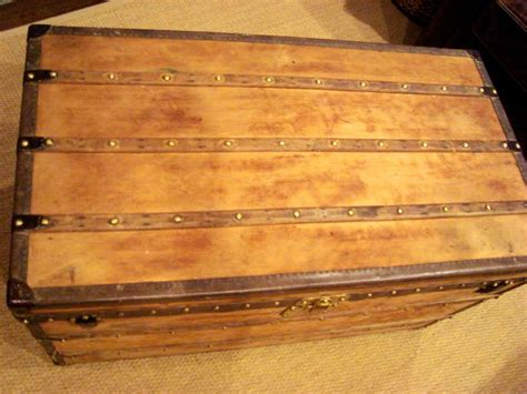 wooden trunk coffee table antique louis vuitton wooden steamer trunk coffee table