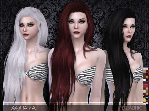 the sims 4 cc hairstyles the sims resource stealthic aquaria hairstyle sims 4