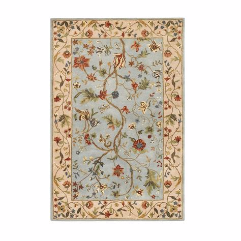 home accent rug collection home decorators collection antoinette wembley blue beige 2