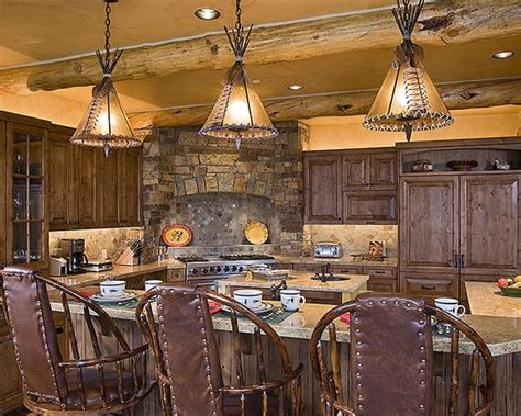 western style kitchen cabinets check out the lights rustic western kitchen dining
