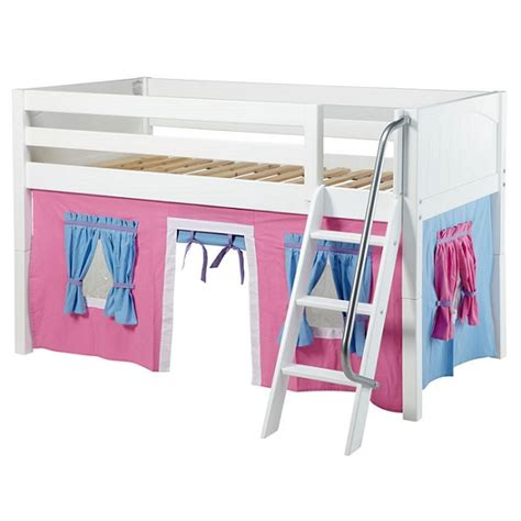 bunk beds with curtains beds with curtains low loft angled ladder
