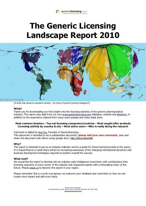 Landscape License The Generic Licensing Landscape Report 2010