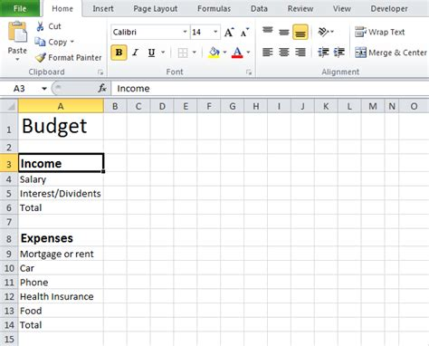 Simple Budget Spreadsheet by Simple Budget Template Beepmunk