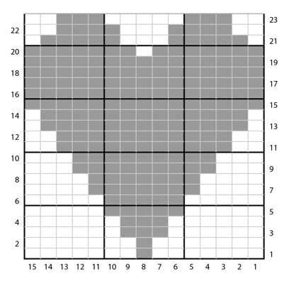 heart knitting pattern chart heart knitting pattern chart google search crafty