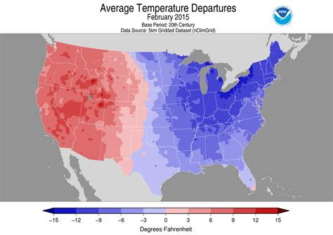 average temperature national climate report february 2015 state of the climate national centers for