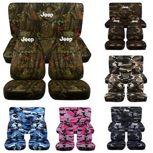 cc new camouflage jeep wrangler tj yj front rear seat