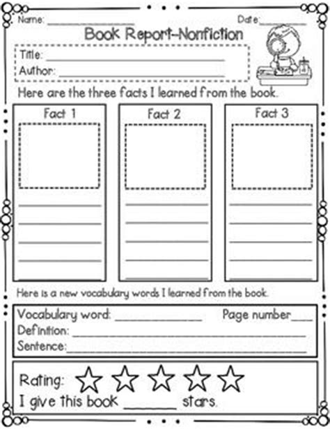 book review template elementary best 25 book projects ideas on book reports