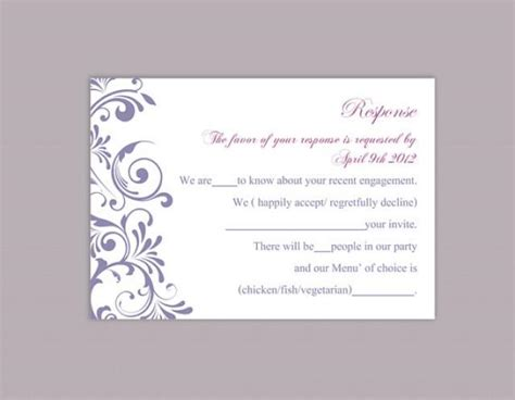 Seminar Response Cards Templates by Diy Wedding Rsvp Template Editable Word File Instant
