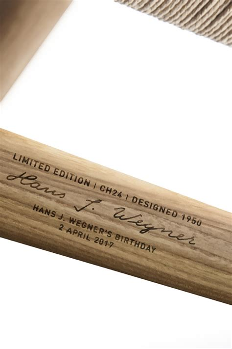 ch wishbone chair engraved limited edition stylejuicer