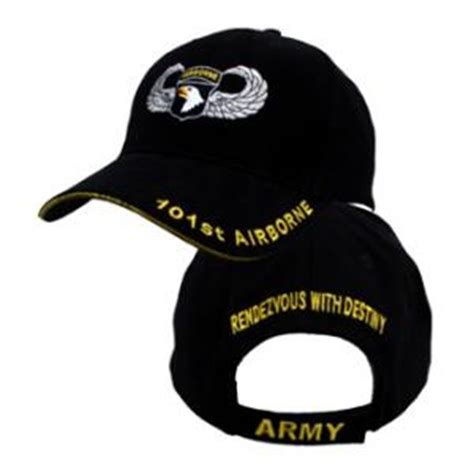 Topi Baseball Import Us Airborne Navy 101st airborne cap w wings black flying tigers surplus