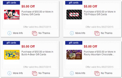 Where Can You Buy Gander Mountain Gift Cards - mperks gift card coupons disney tgi fridays build a bear more