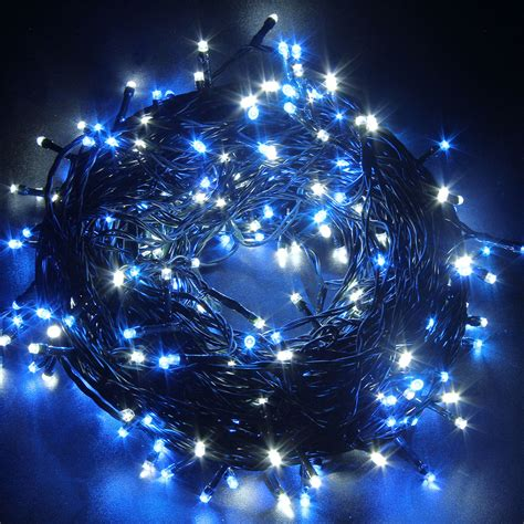 blue string christmas lights 50m 250led blue christmas xmas string fairy lights outside