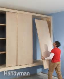 diy garage cabinet the family handyman