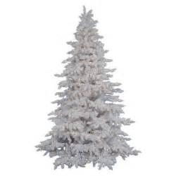 Vickerman flocked white spruce christmas tree flocked christmas