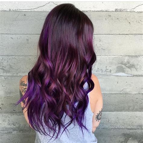 Jepit Rambut Ombre Hair Extension Eggplant Purple 52 best purple hair don t care images on hair color purple purple hair and