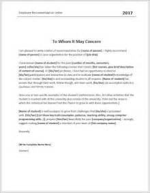 employee recommendation letter template employee recommendation letter templates for ms word