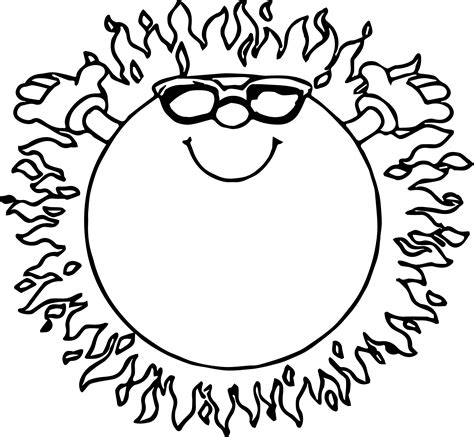 sun coloring page summer sun coloring page wecoloringpage