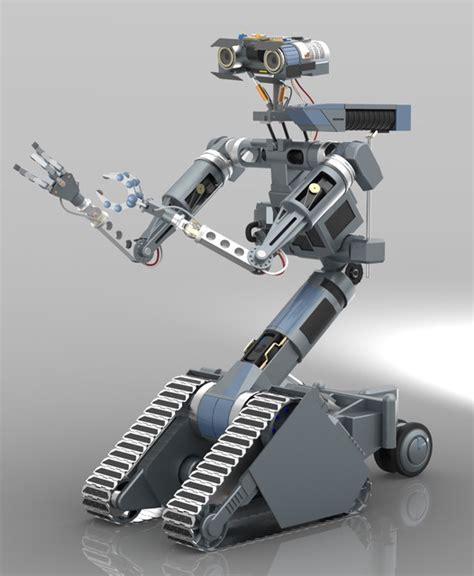 film robot short circuit johnny 5 from quot short circuit quot 3d cad model grabcad