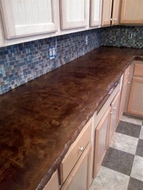 Removing Stains From Concrete Countertops by Best 25 Stained Concrete Countertops Ideas On