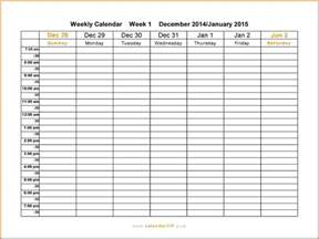 10 free weekly printable calendar templates lease template
