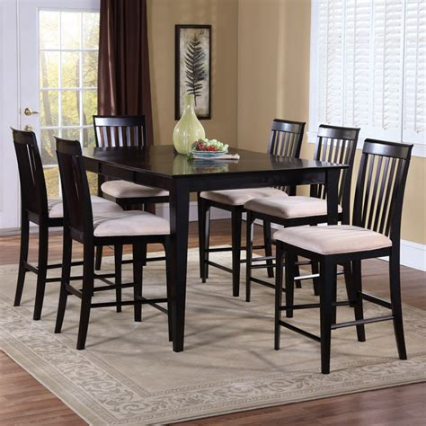 furniture 7 extension pub dining room set in montreal 7 contemporary pub set w extension table dcg stores