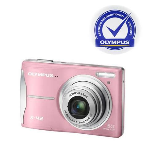 Kamera Olympus 5x Wide olympus x 42 12mp digital with 5x optical zoom and 2 7 inch lcd pink refurbished by
