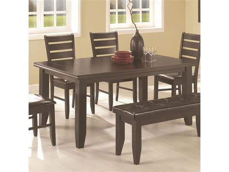 coaster dining room furniture coaster dining room dining table 102721 simply discount