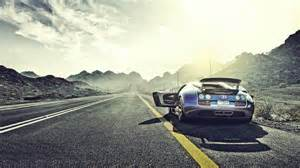 Bugatti Veyron On Road Amazing Bugatti Veyron On The Road 1920x1080 Hd