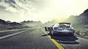 Bugatti Veyron On Road Amazing Bugatti Veyron On The Road 1920x1080 Hd