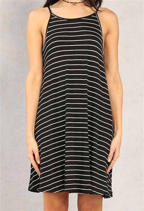striped swing dress striped cami swing dress shop under 15 dresses at