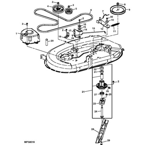 deere deck parts diagram deere l105 lawn tractor parts