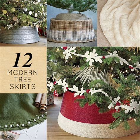 12 modern christmas tree skirts design sponge