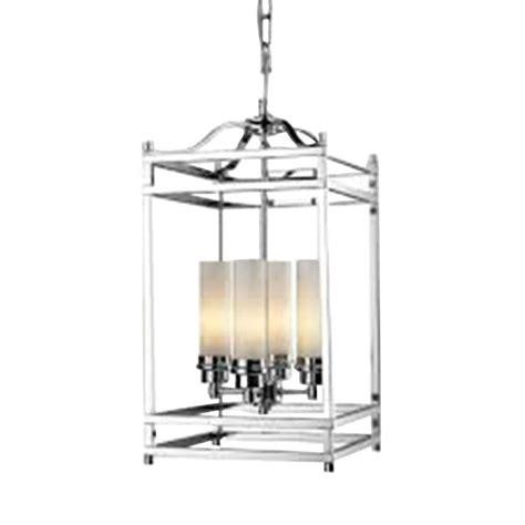 Candelabra Ceiling Light Filament Design 4 Light Chrome Candelabra Ceiling Pendant Cli Jb180 4 The Home Depot