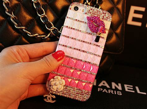buy wholesale funky chanel bling rhinestone flower cover for iphone 6 plus