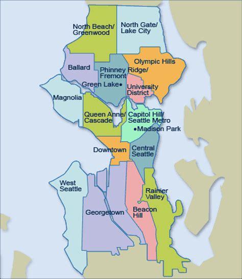 seattle neighborhood map pdf seattle neighborhood map map2