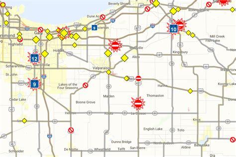 road closures map indot home