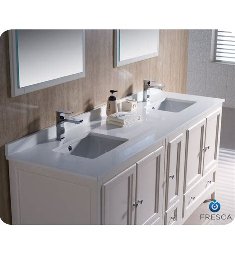 Bathroom Vanity With Side Cabinet 72 Quot Fresca Oxford Fvn20 301230aw Traditional Sink Bathroom Vanity With One Side Cabinet