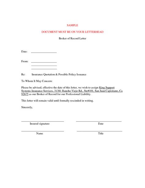 letter format for cancellation of insurance policy best photos of cancellation request letter sle