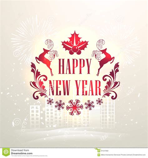 elegant greeting card  happy  year stock photo image