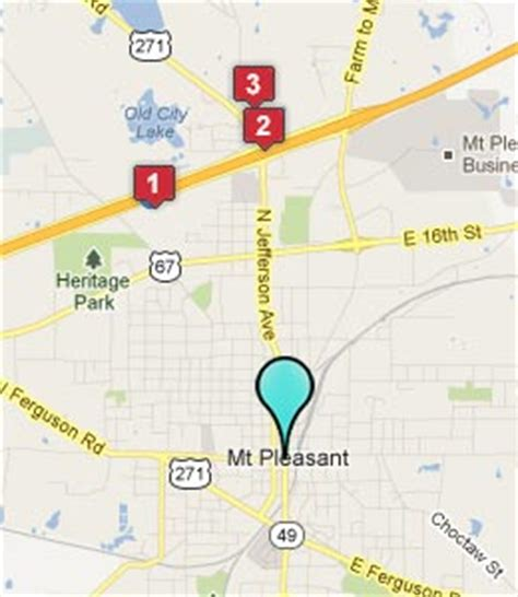mt pleasant texas map mount pleasant texas hotels motels see all discounts