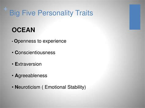 big five personality test ppt big five personality tests substantial