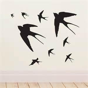 Bible Verse Wall Stickers flying swallows vinyl wall sticker by oakdene designs