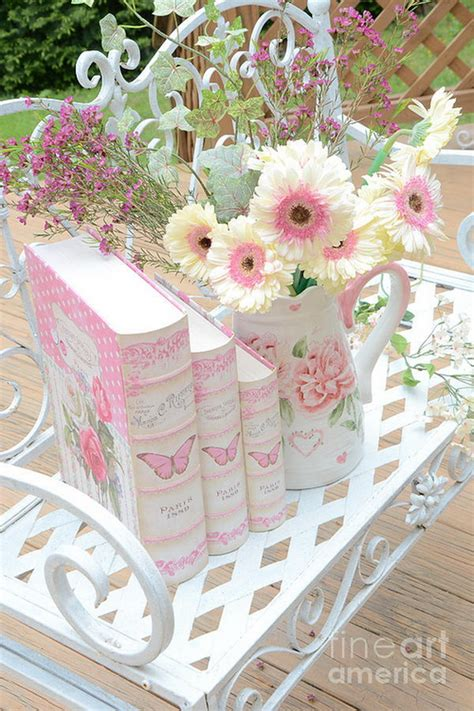 Wallpaper Sticker Dinding Tosca Bunga Flower Shabby Chic Vintage Cover dreamy pink and white floral decor soft pastel