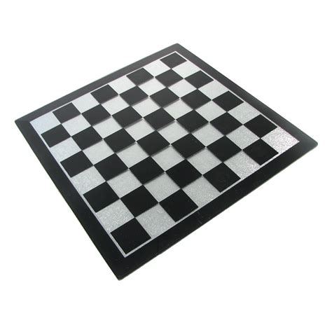 glass chess boards 16 quot black and silver glass chess board