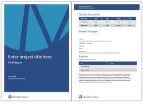 Word Business Report Template Best Photos Of Word Report Templates Report Cover Page