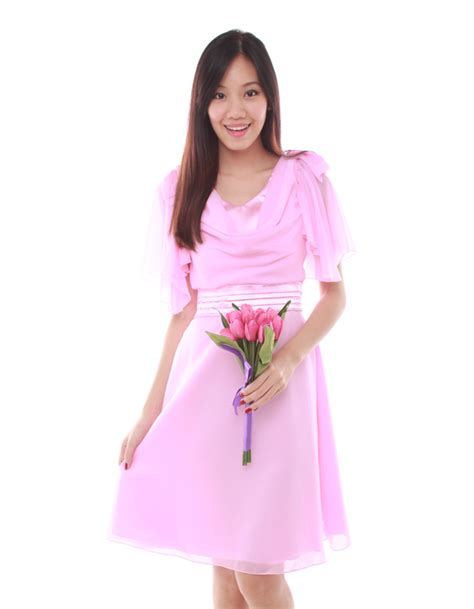 Clare Pink Dress dress in baby pink the bmd shop your bridesmaid