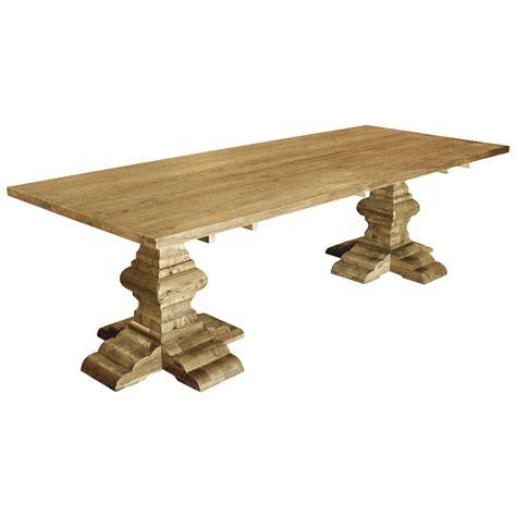alain country reclaimed elm rectangular dining